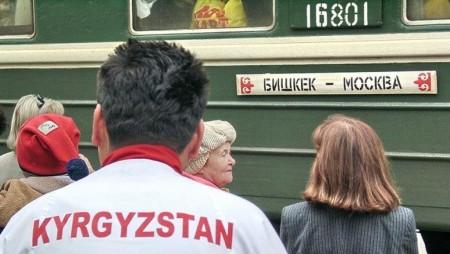 Поезд Бишкек-Москва