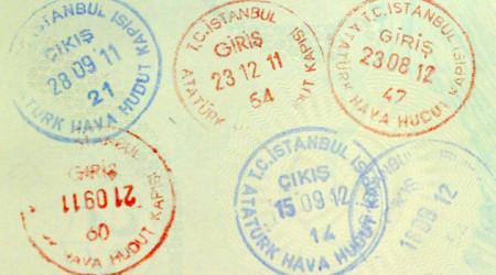 Штампы о пересечении границы Турции