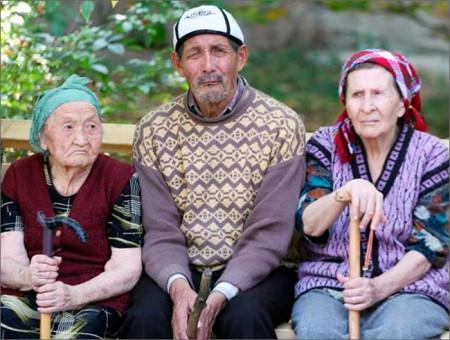 Пенсионеры Киргизии
