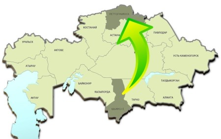 Переезд на север Казахстана