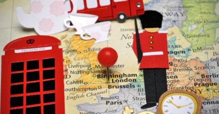 Лондон на карте Европы