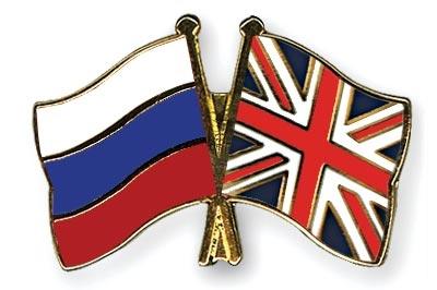 Флаги России и Британии