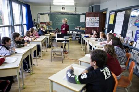 Занятие в канадской школе