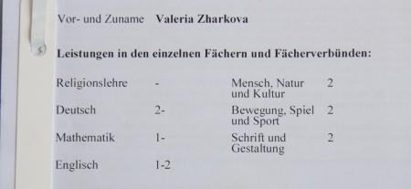 Оценки в школе Германии