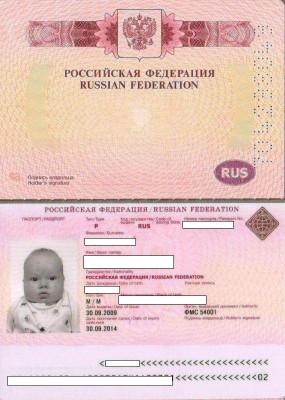 биометрический паспорт на ребёнка