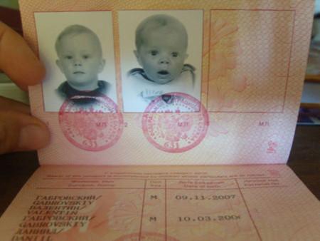 загранпаспорт в который вписаны ведомости о детях