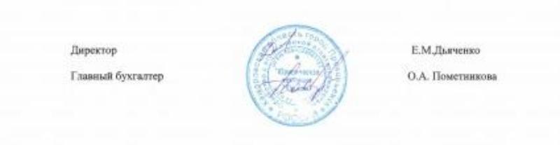 подписи директора и главбуха