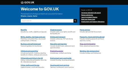 сайт посольства Великобритании