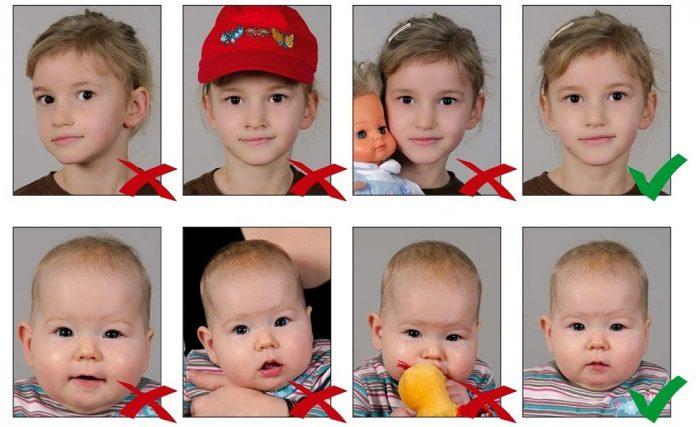 Правила фото ребёнка