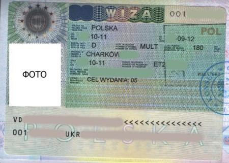 Национальная виза в Польшу