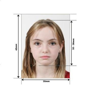 Пример фото на детский загранпаспорт