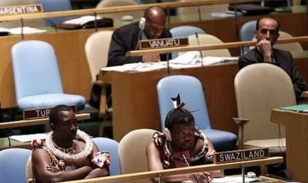 Представители страны Свазиленд на заседании ООН