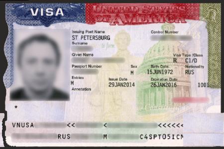 американская виза для моряка