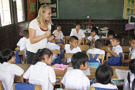 Работа в Камбодже учителем
