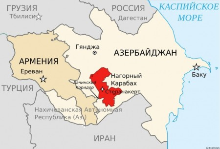 расположение Нагорного Карабаха