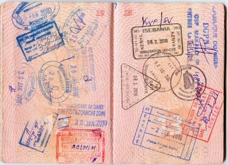 Страницы загранпаспорта с визами