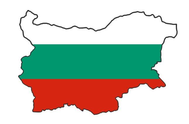 Карта и флаг Болгарии