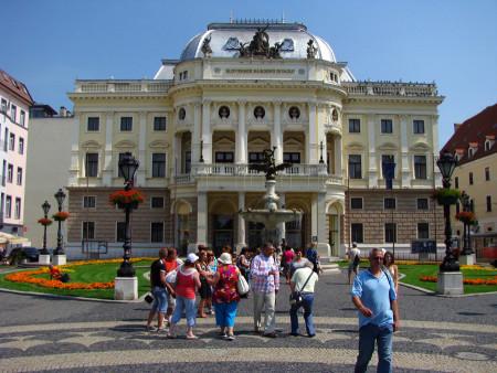 Группа туристов в Словакии