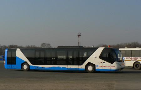 Автобус аэровокзала Кневичи