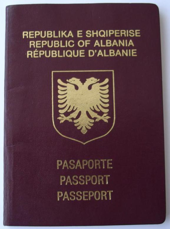 Паспорт гражданина Албании