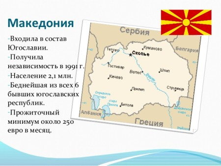уровень жизни в Македонии