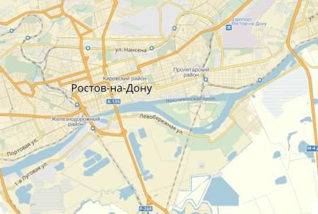 аэропорта Ростов-на-Дону на карте