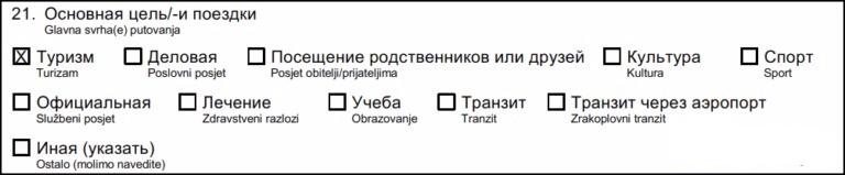 21 пункт анкеты