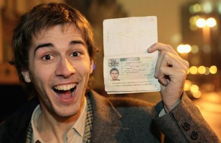 Счастливый обладатель визы