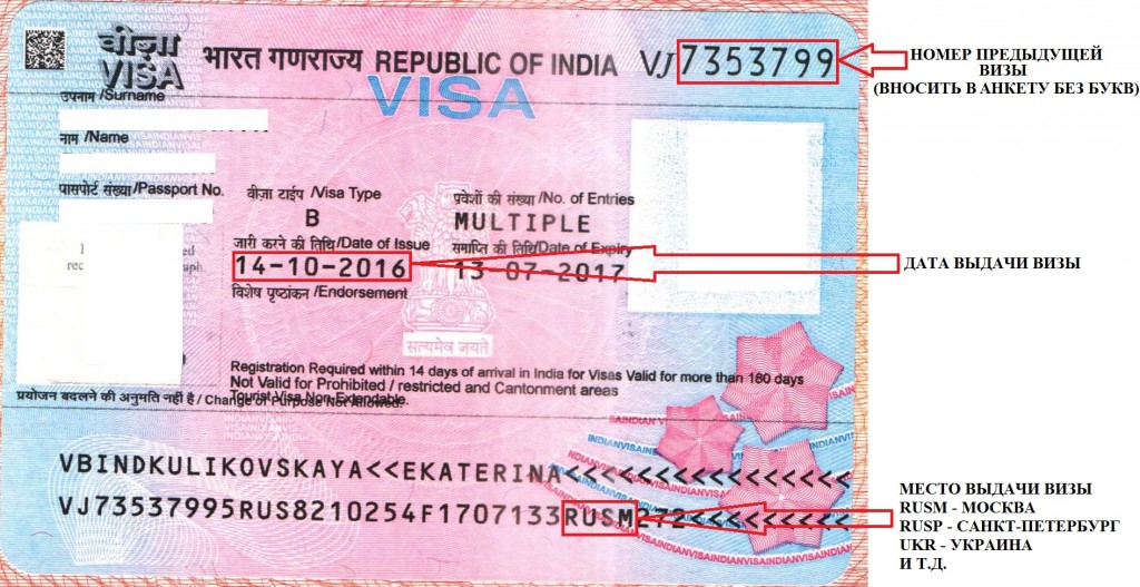 какие документы торебуются на визу в индию