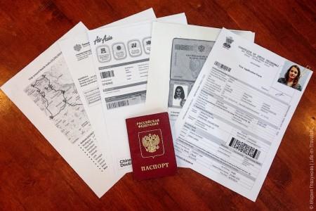 пакет документов для оформления визы