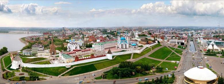 Вид на Казань с высоты