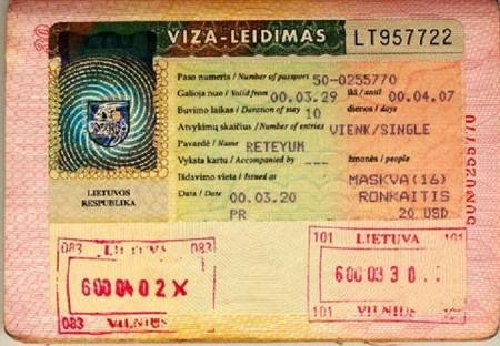 национальная литовская виза
