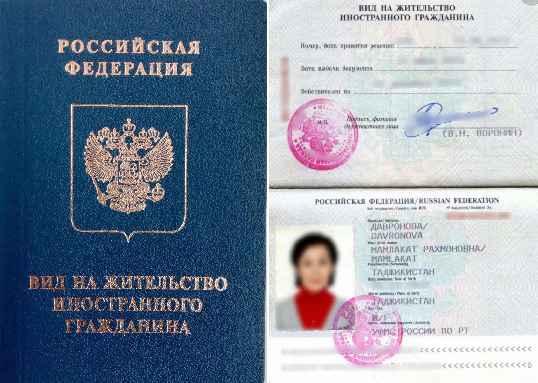 Пример российского ВНЖ