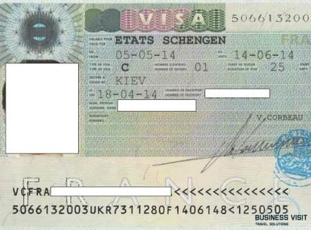 Краткосрочная виза во Францию