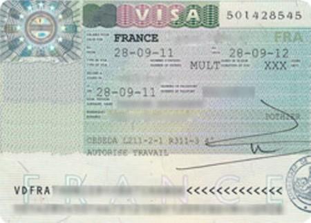 Французская рабочая виза