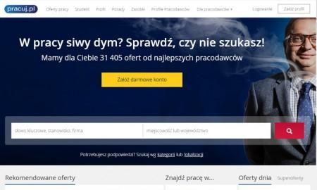 сайт для поиска работы pracuj.pl.