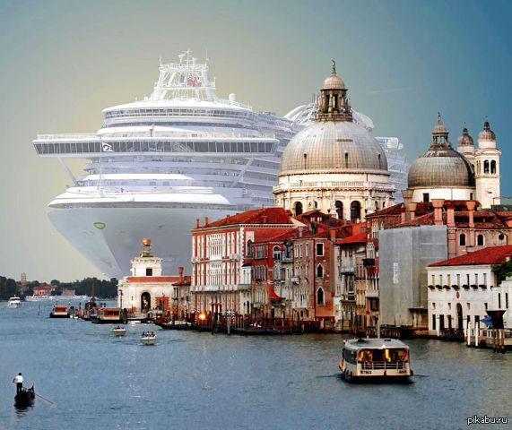 корабль в Италии