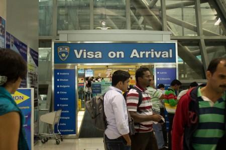 Оформление визы по прибытии
