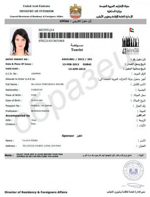 электронная рабочая виза в Абу-Даби