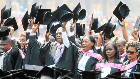 Студенты в Зимбабве