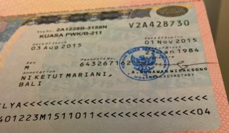 Социальная виза в Индонезию