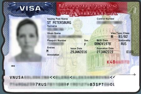 виза в США на три года