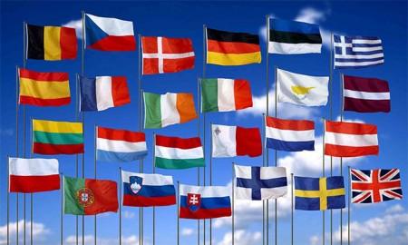 Флаги стран, входящих в шенген