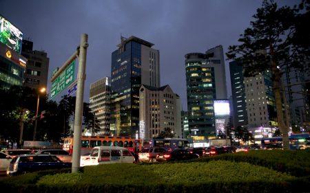 Район Gangnam в Корее
