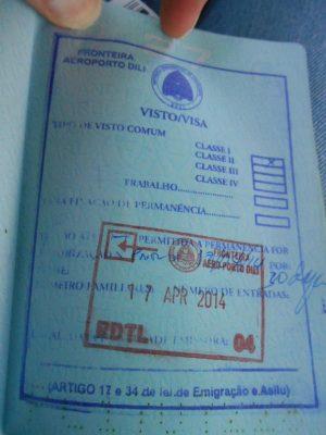 разрешение на въезд в Восточный Тимор