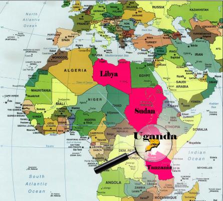 Уганда на карте мира
