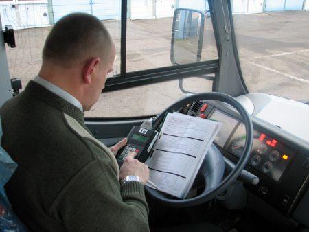 Проверка работы водителя