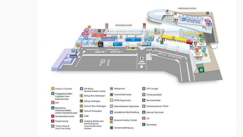 Схема аэропорта Голубой Дунай