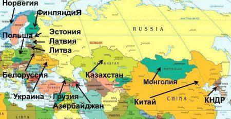 Эстония на карте мира