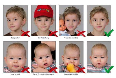 требования к фото ребенка на визу